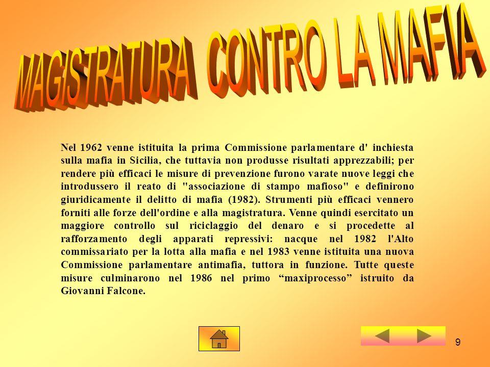 MAGISTRATURA CONTRO LA MAFIA