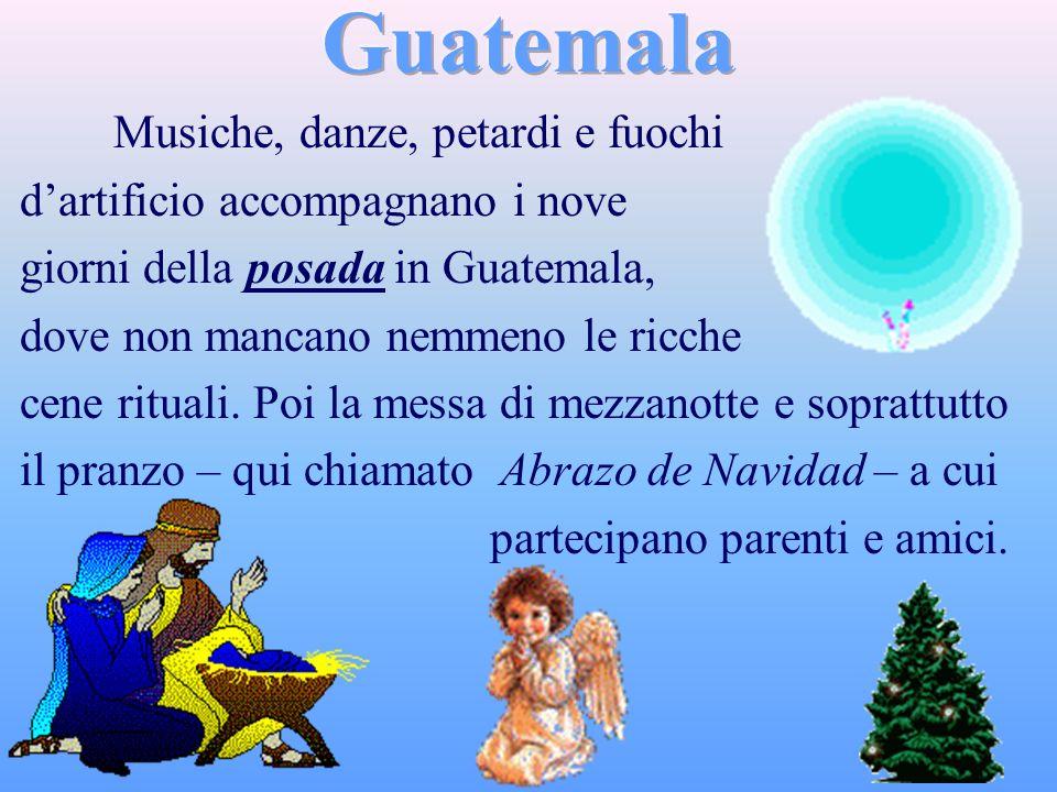 Guatemala Musiche, danze, petardi e fuochi