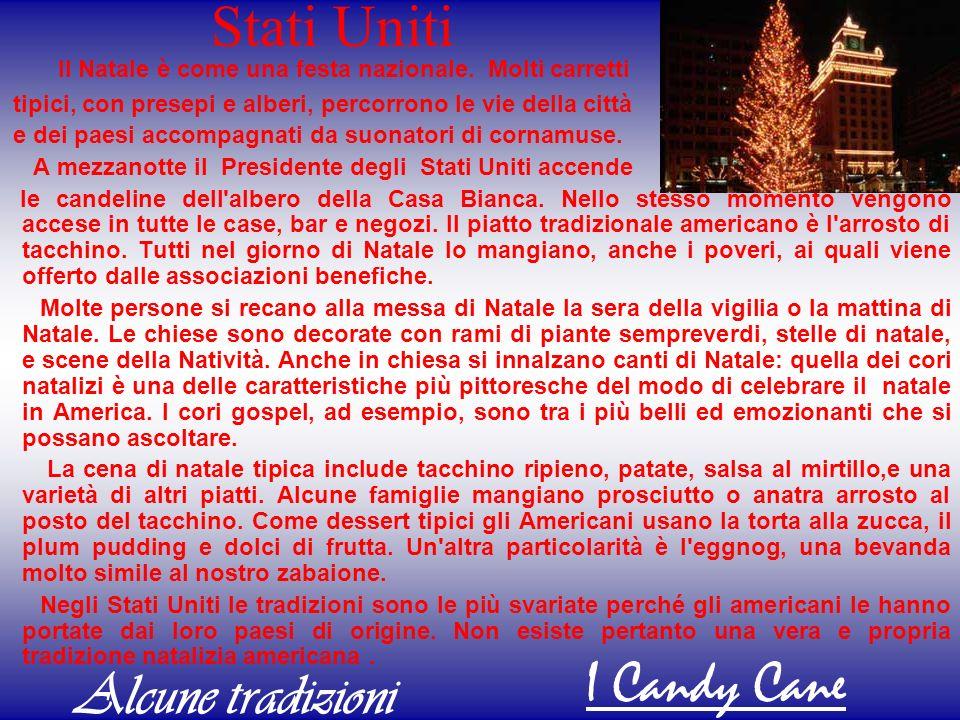 Stati Uniti I Candy Cane Alcune tradizioni