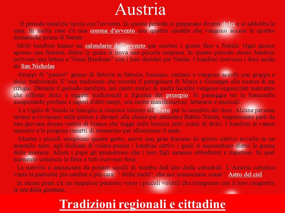 Tradizioni regionali e cittadine