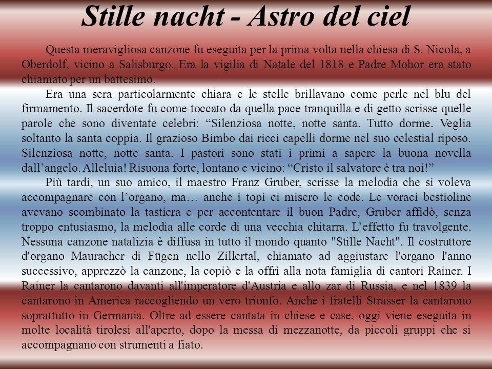 Stille nacht - Astro del ciel