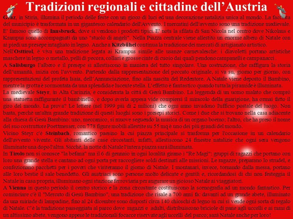 Tradizioni regionali e cittadine dell'Austria