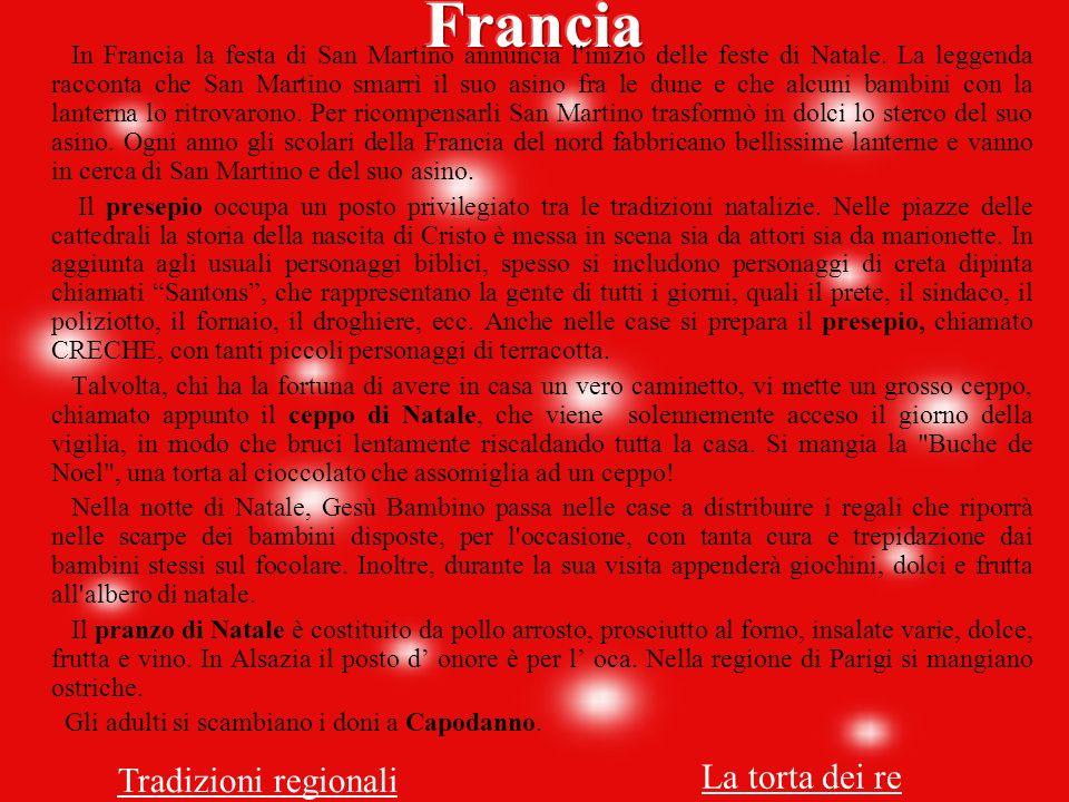 Francia La torta dei re Tradizioni regionali
