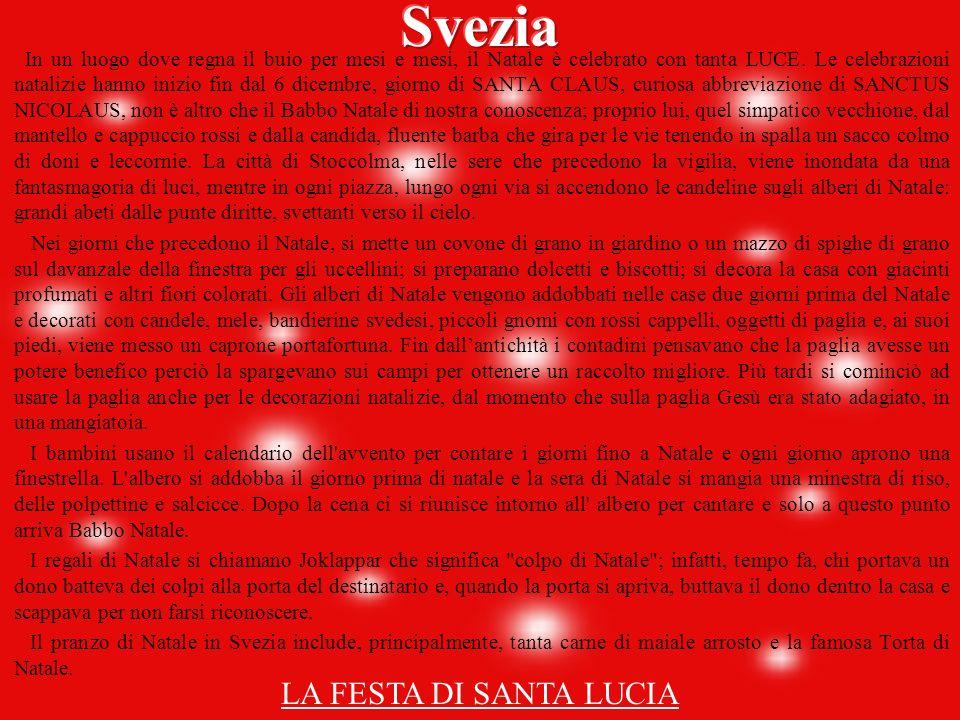 Svezia LA FESTA DI SANTA LUCIA