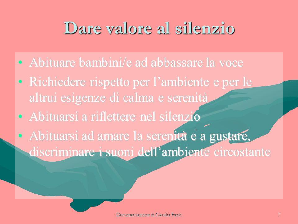 Dare valore al silenzio
