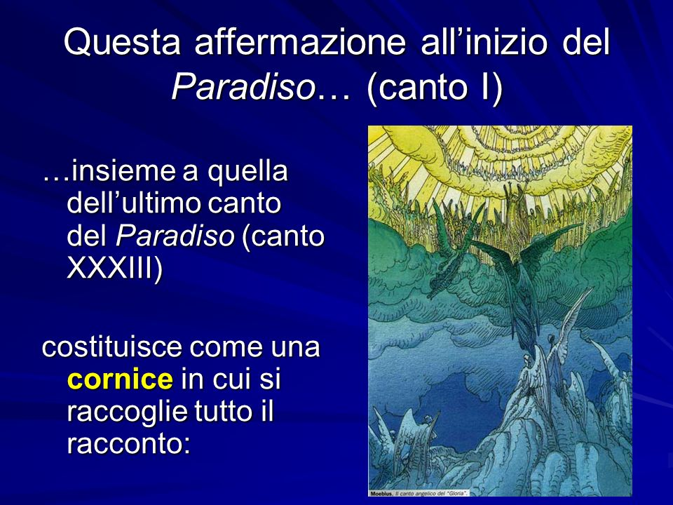 Questa affermazione all'inizio del Paradiso… (canto I)