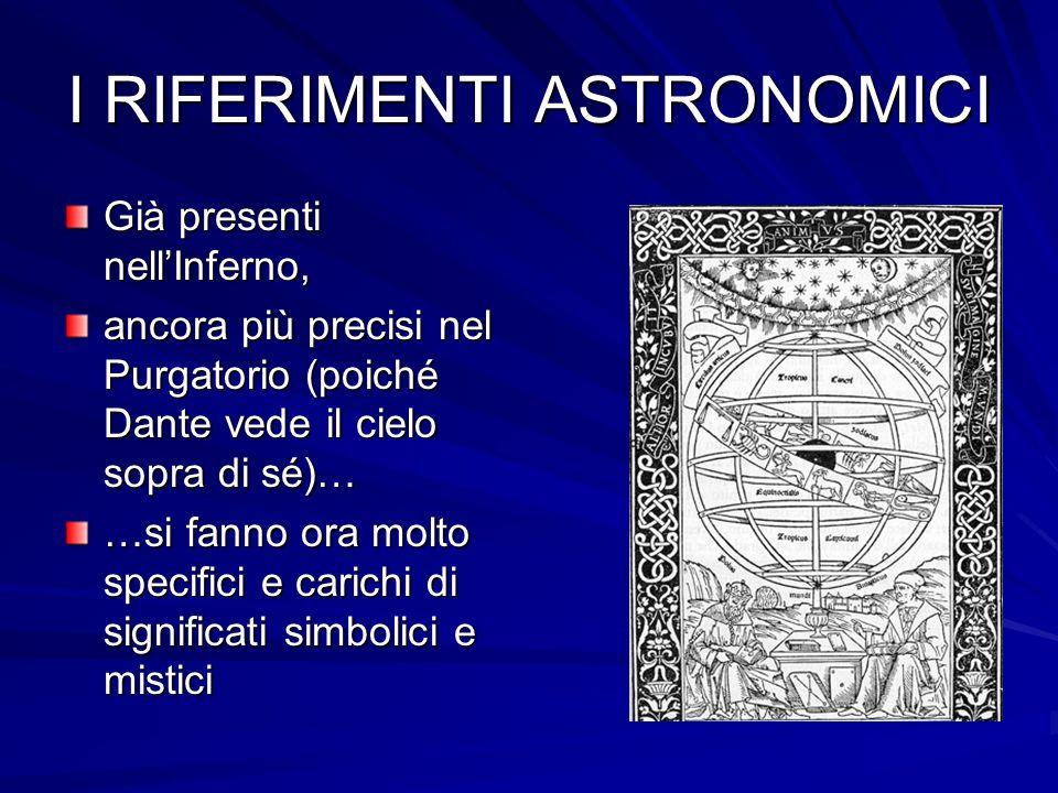 I RIFERIMENTI ASTRONOMICI