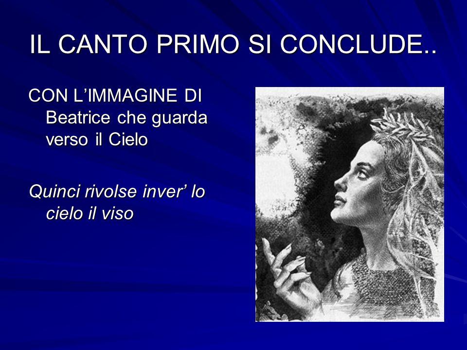 IL CANTO PRIMO SI CONCLUDE..