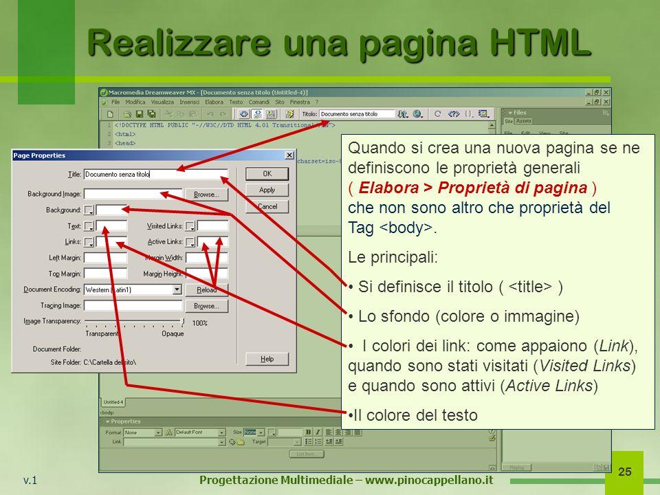 Realizzare una pagina HTML