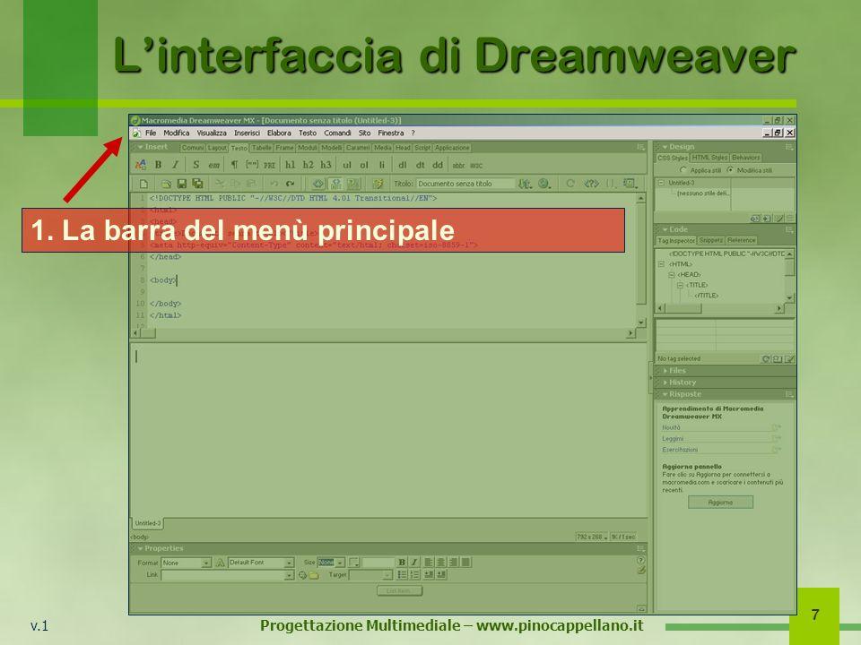 L'interfaccia di Dreamweaver
