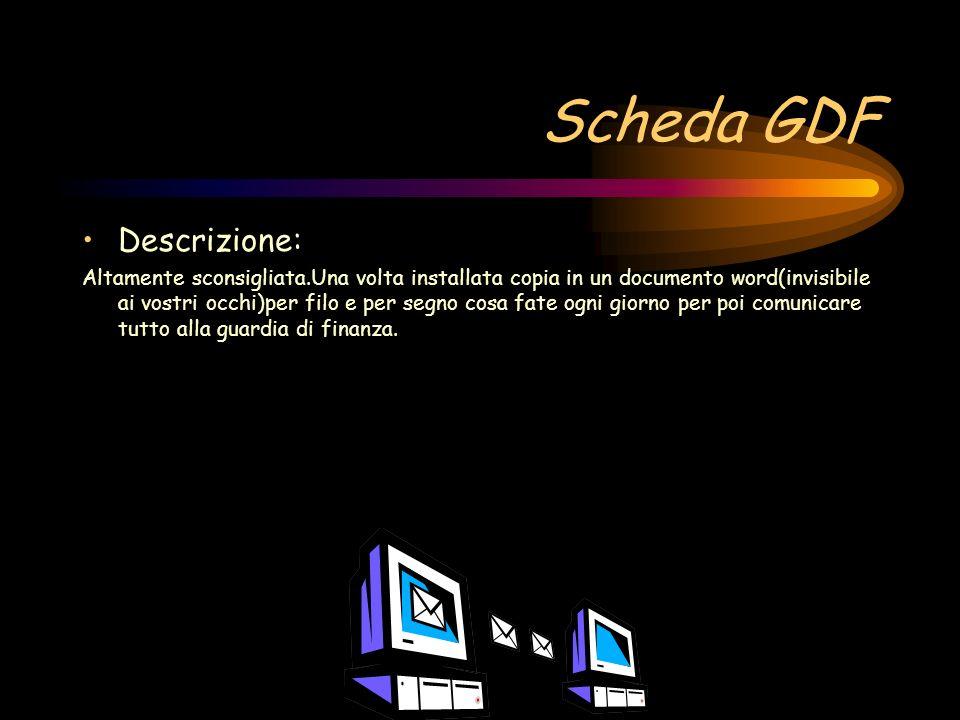 Scheda GDF Descrizione: