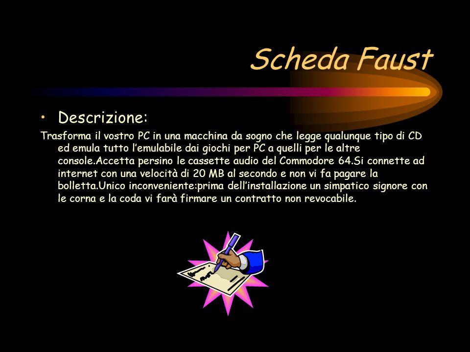 Scheda Faust Descrizione: