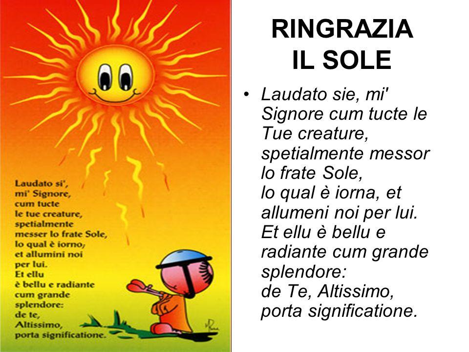 RINGRAZIA IL SOLE