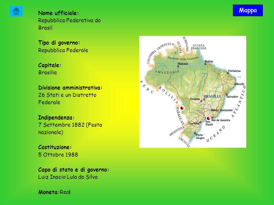Mappa Nome ufficiale: Repubblica Federativa do Brasil