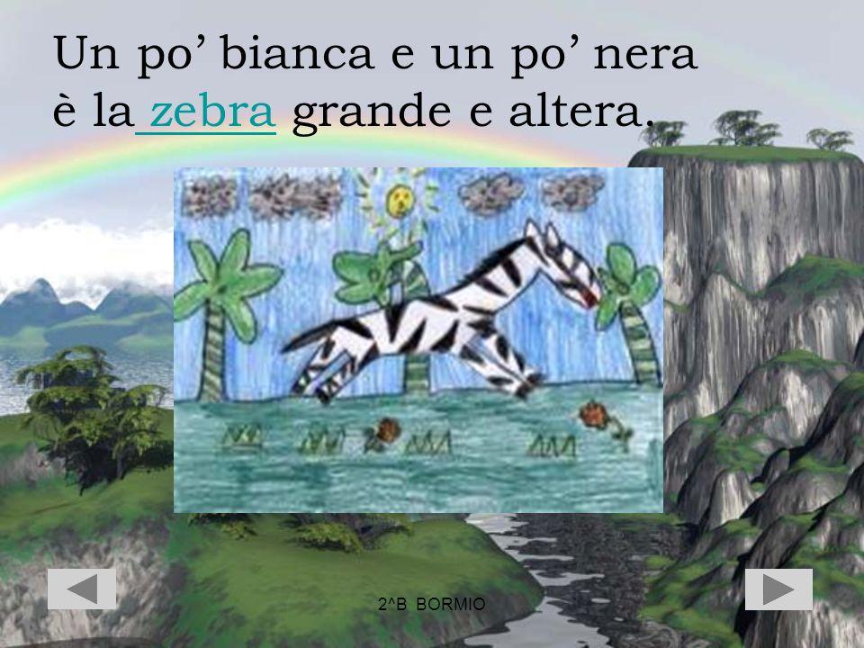 Un po' bianca e un po' nera è la zebra grande e altera.