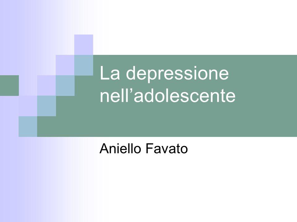 La depressione nell'adolescente