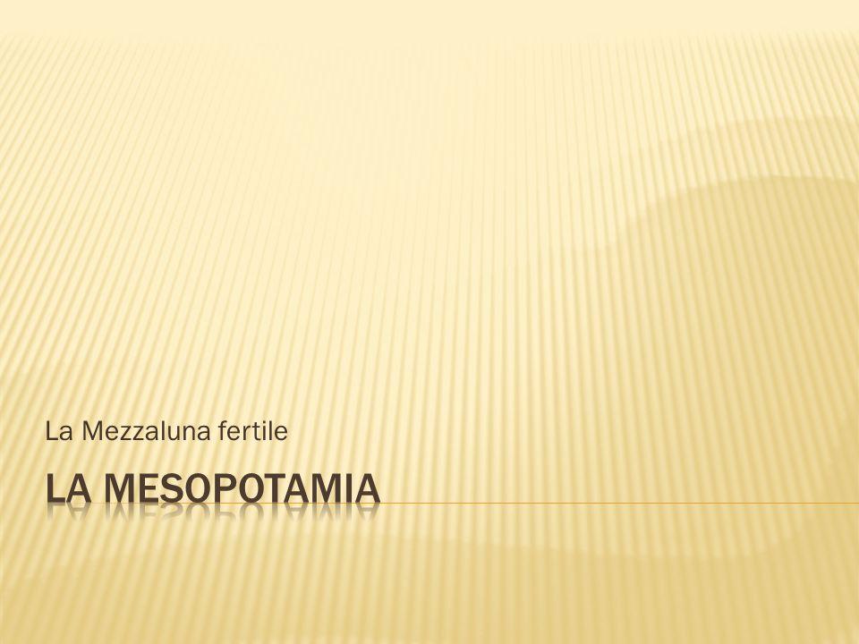 La Mezzaluna fertile LA MESOPOTAMIA