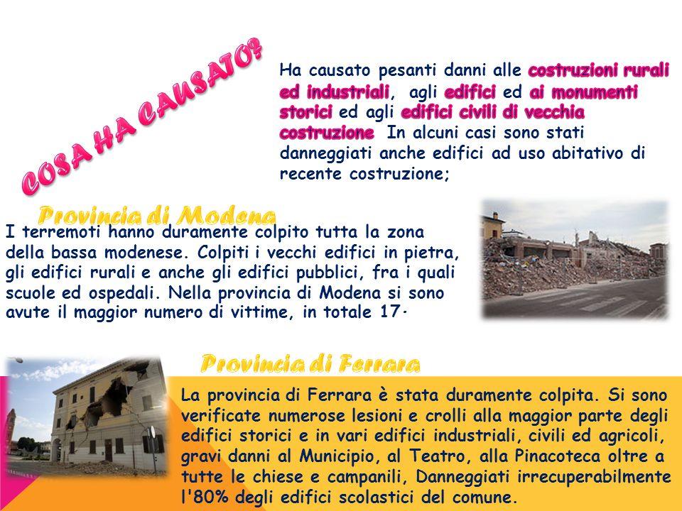 COSA HA CAUSATO Provincia di Ferrara