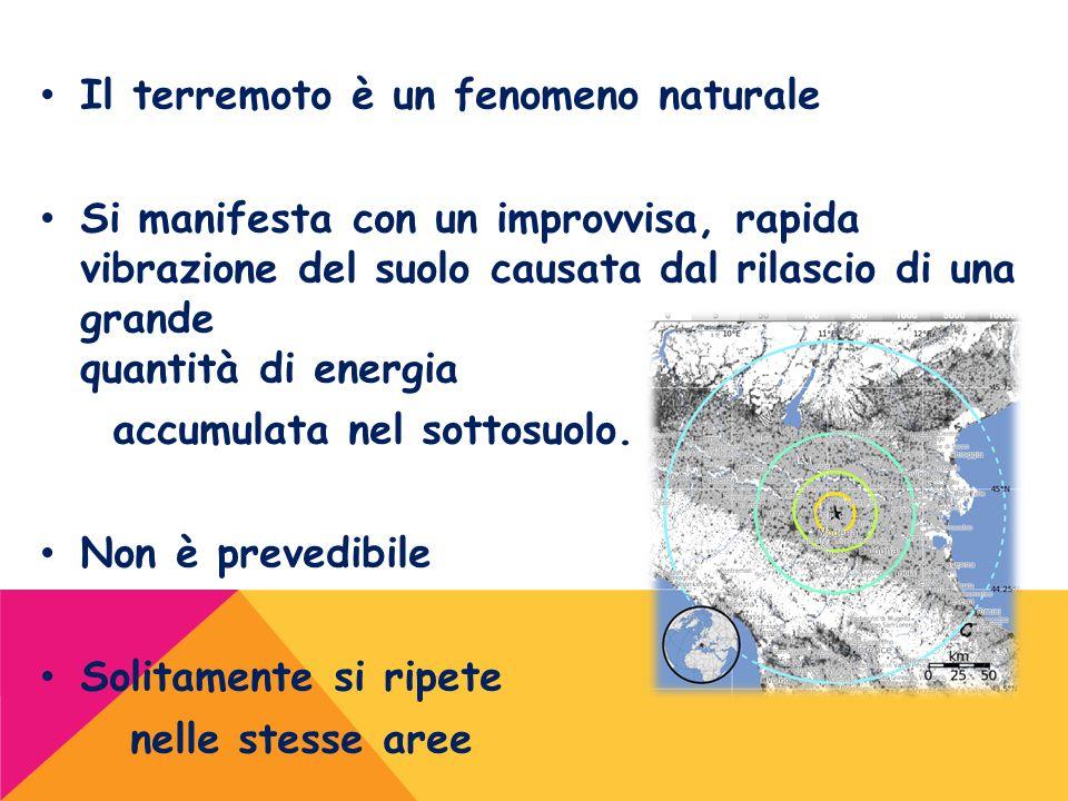 Il terremoto è un fenomeno naturale