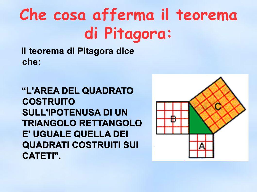 Che cosa afferma il teorema di Pitagora: