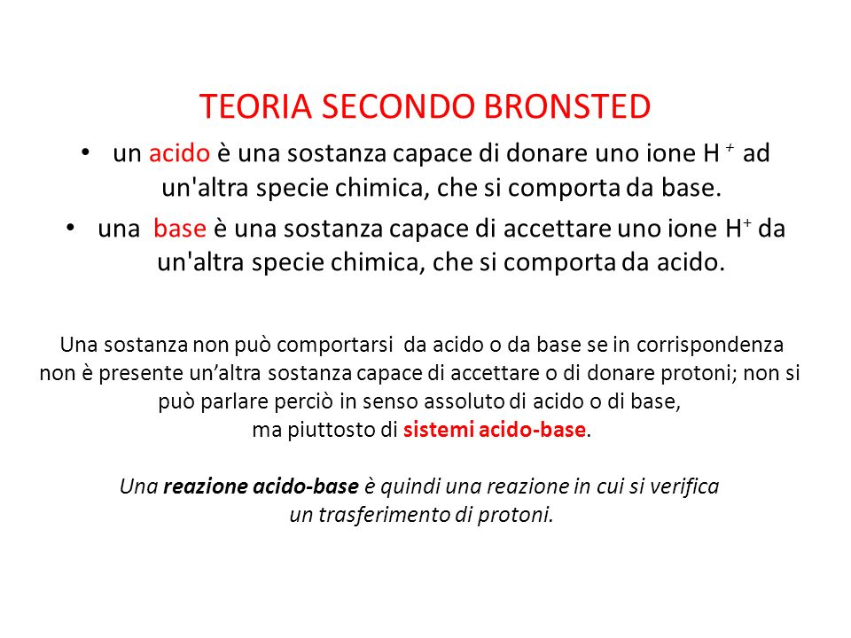 TEORIA SECONDO BRONSTED