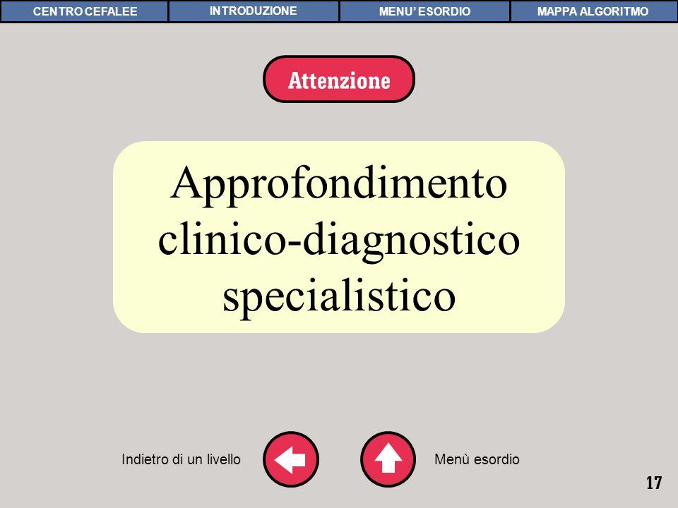 Approfondimento clinico-diagnostico specialistico Attenzione