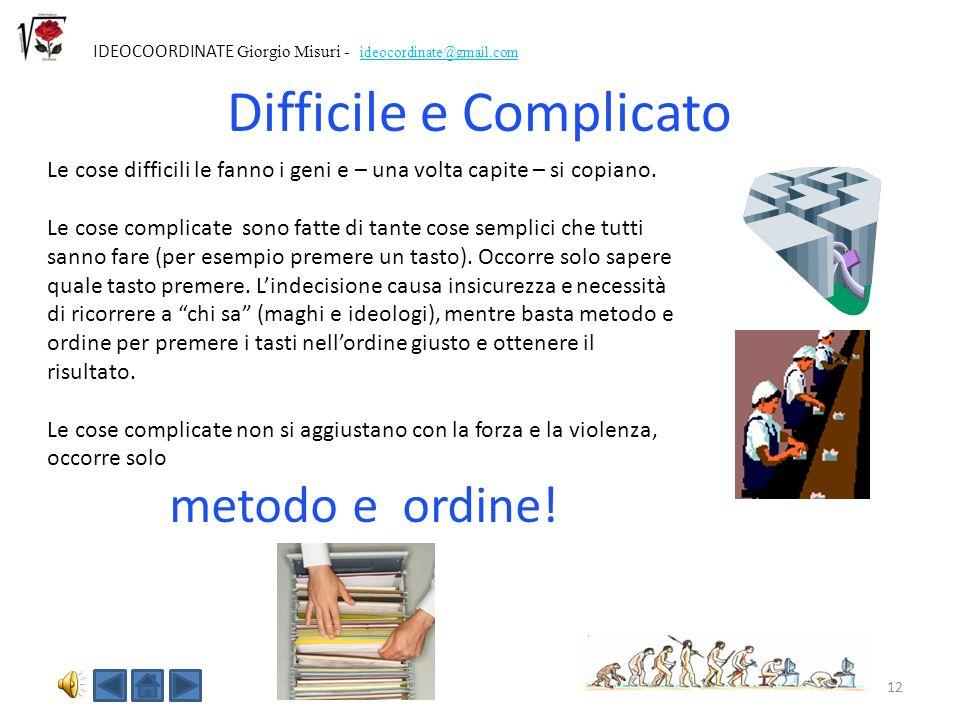 Difficile e Complicato