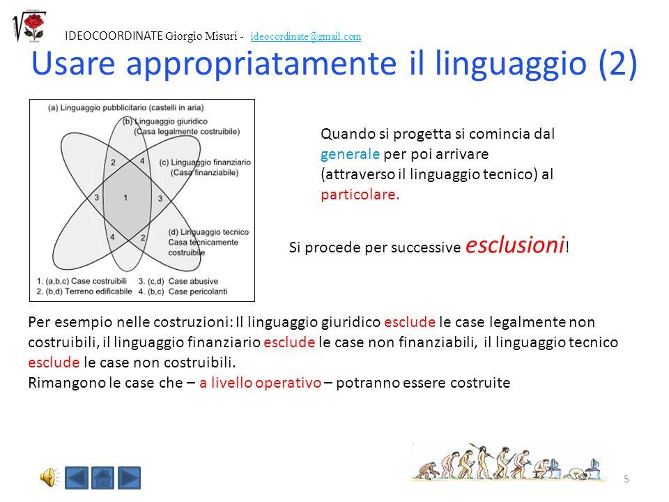 Usare appropriatamente il linguaggio (2)