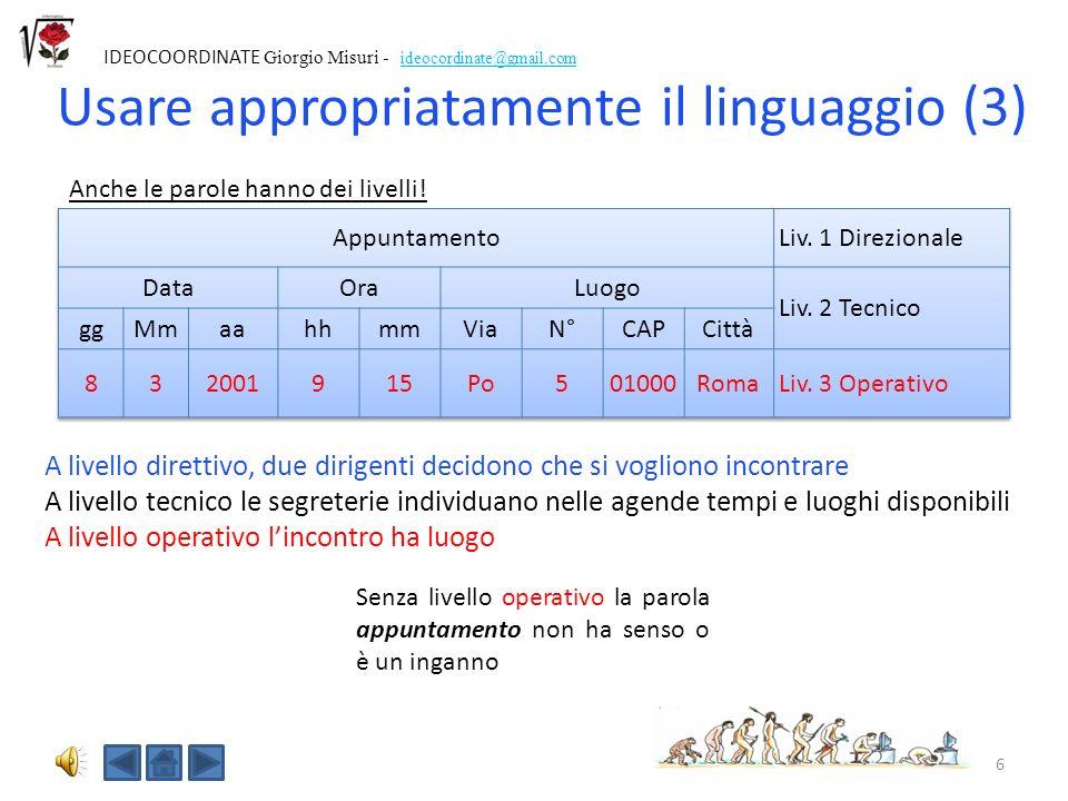 Usare appropriatamente il linguaggio (3)