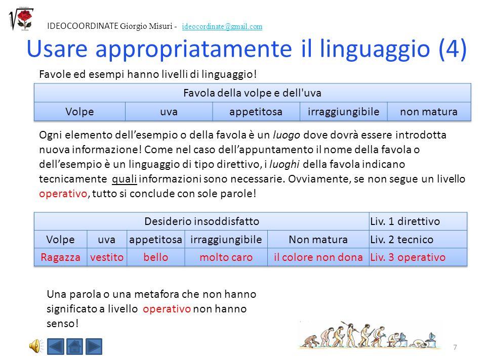Usare appropriatamente il linguaggio (4)