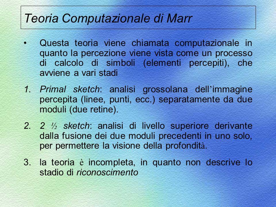 Teoria Computazionale di Marr