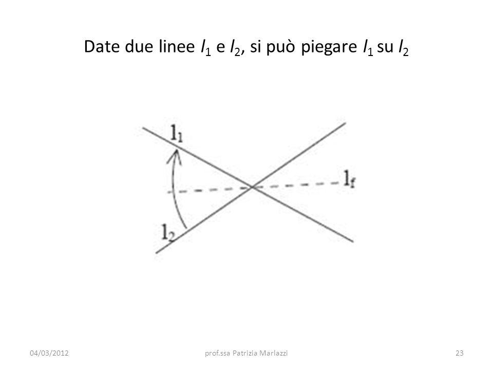 Date due linee l1 e l2, si può piegare l1 su l2