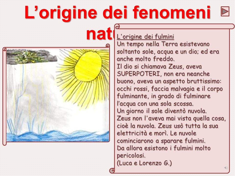 L'origine dei fenomeni naturali