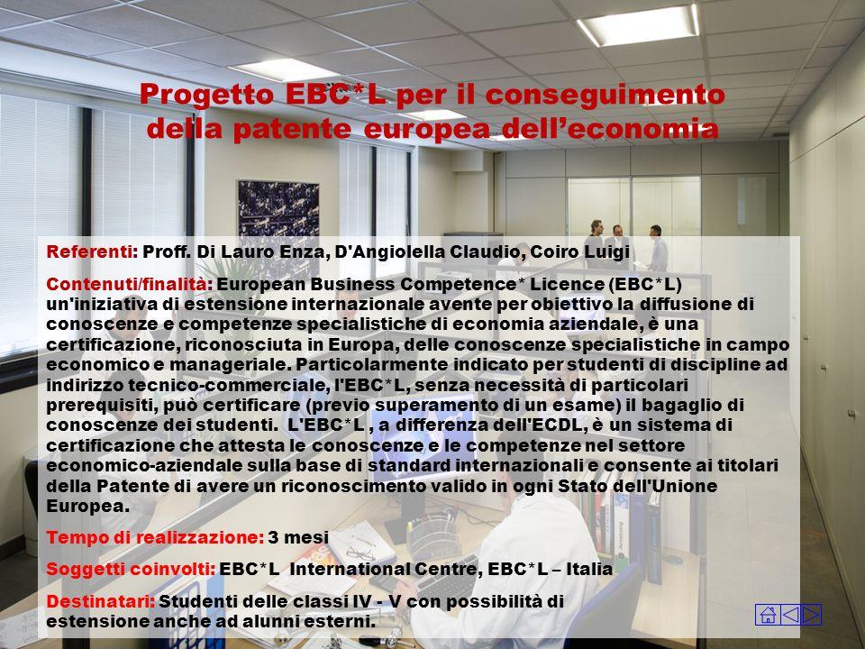 Progetto EBC*L per il conseguimento della patente europea dell'economia