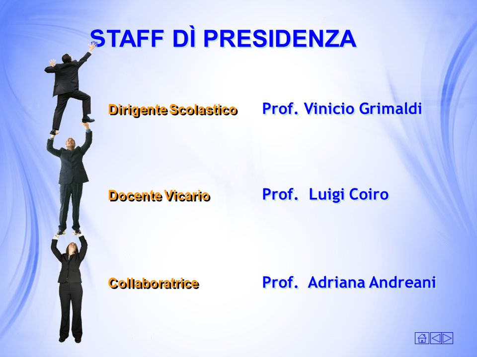 S TAFF DÌ PRESIDENZA Prof. Vinicio Grimaldi Prof. Luigi Coiro