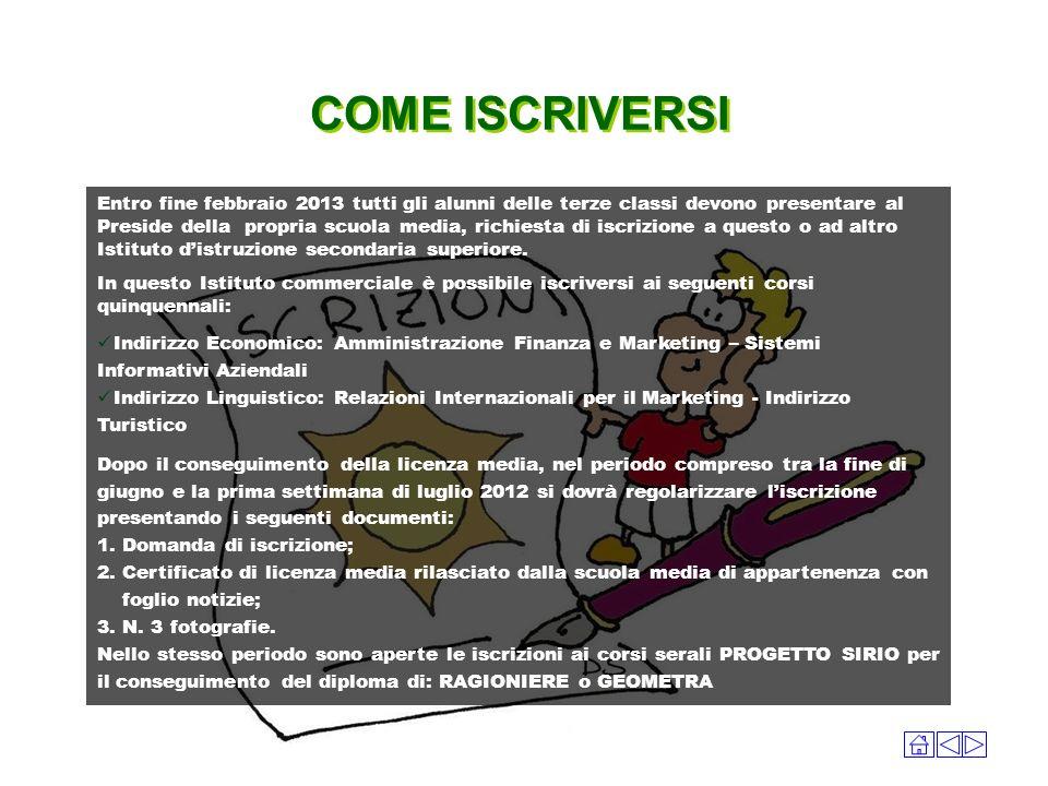 COME ISCRIVERSI