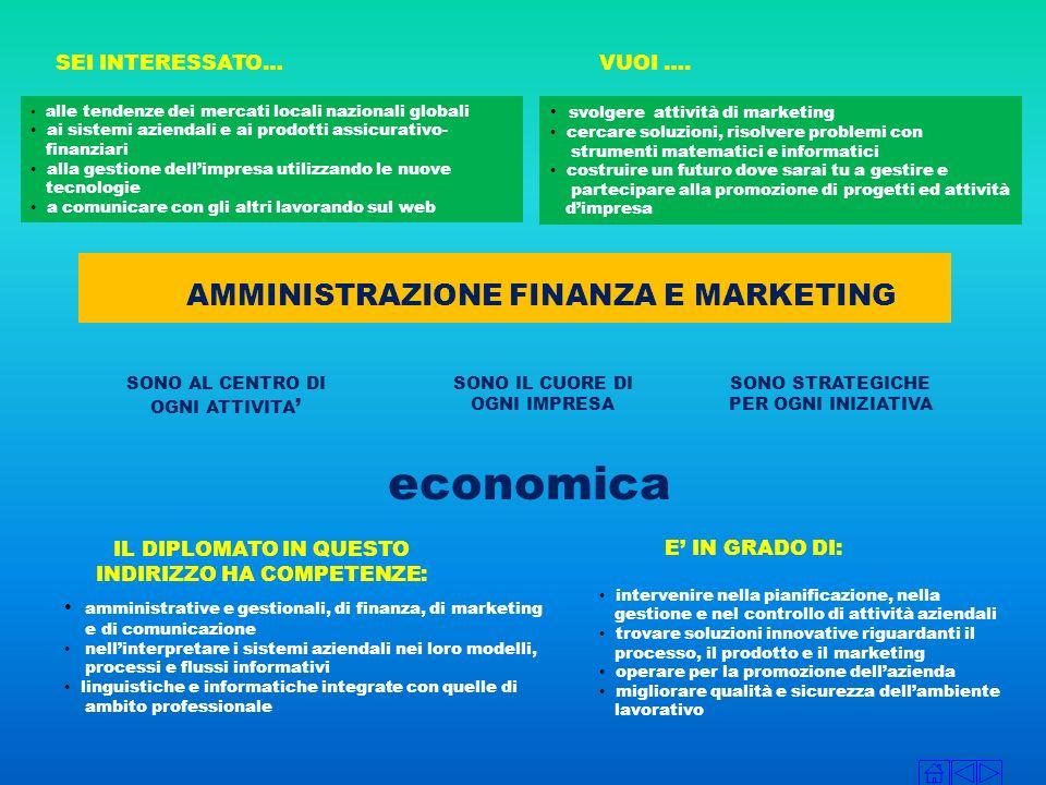 economica AMMINISTRAZIONE FINANZA E MARKETING SEI INTERESSATO… VUOI ….