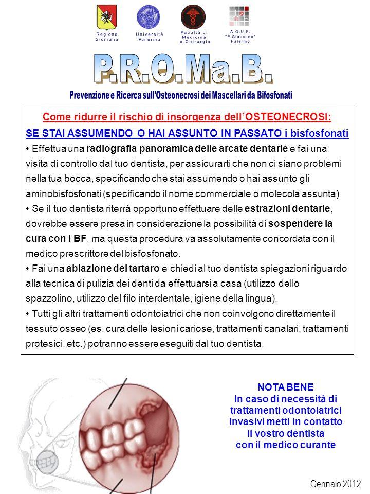Come ridurre il rischio di insorgenza dell'OSTEONECROSI: