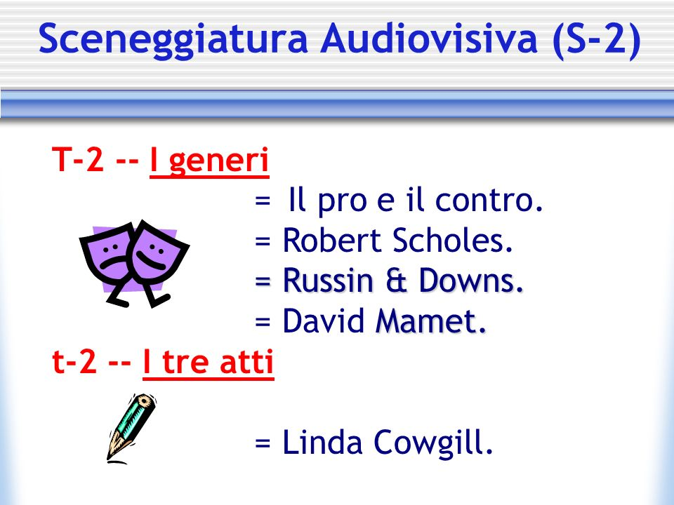 Sceneggiatura Audiovisiva (S-2)
