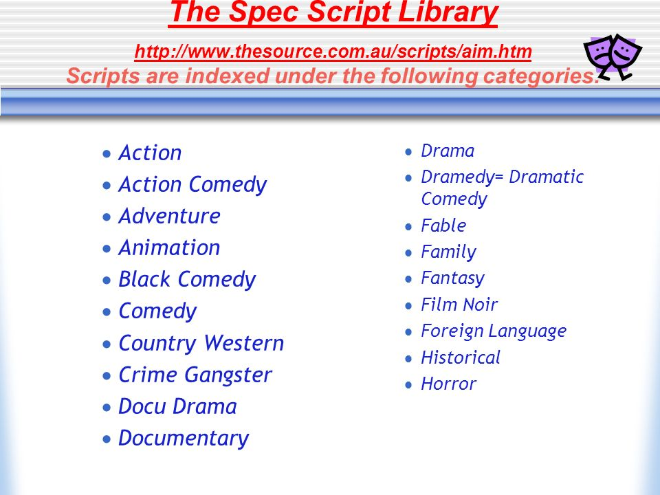 The Spec Script Library http://www. thesource. com. au/scripts/aim