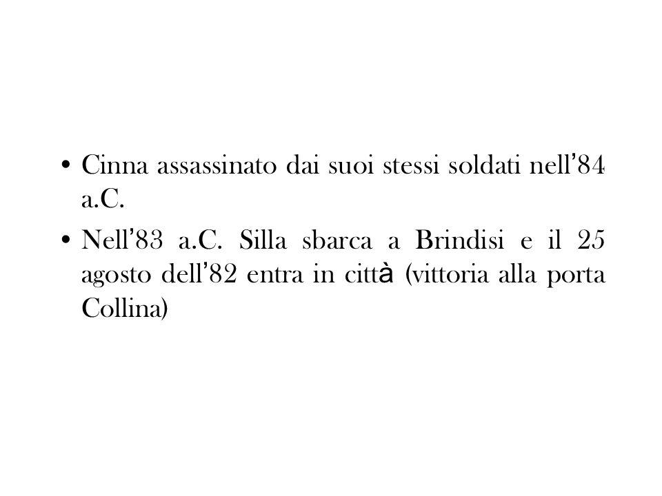 Cinna assassinato dai suoi stessi soldati nell'84 a.C.