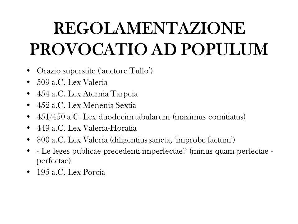REGOLAMENTAZIONE PROVOCATIO AD POPULUM