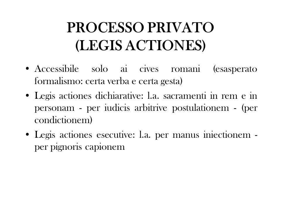PROCESSO PRIVATO (LEGIS ACTIONES)