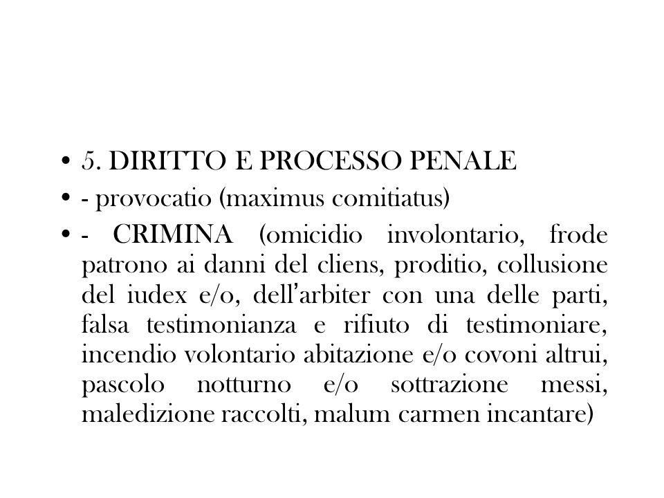 5. DIRITTO E PROCESSO PENALE
