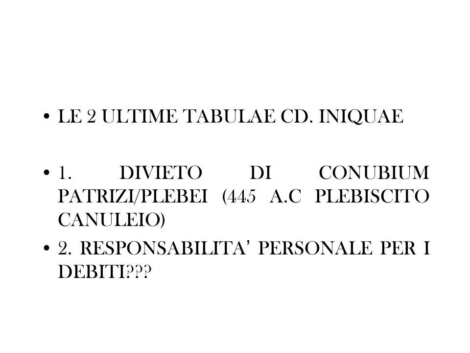 LE 2 ULTIME TABULAE CD. INIQUAE