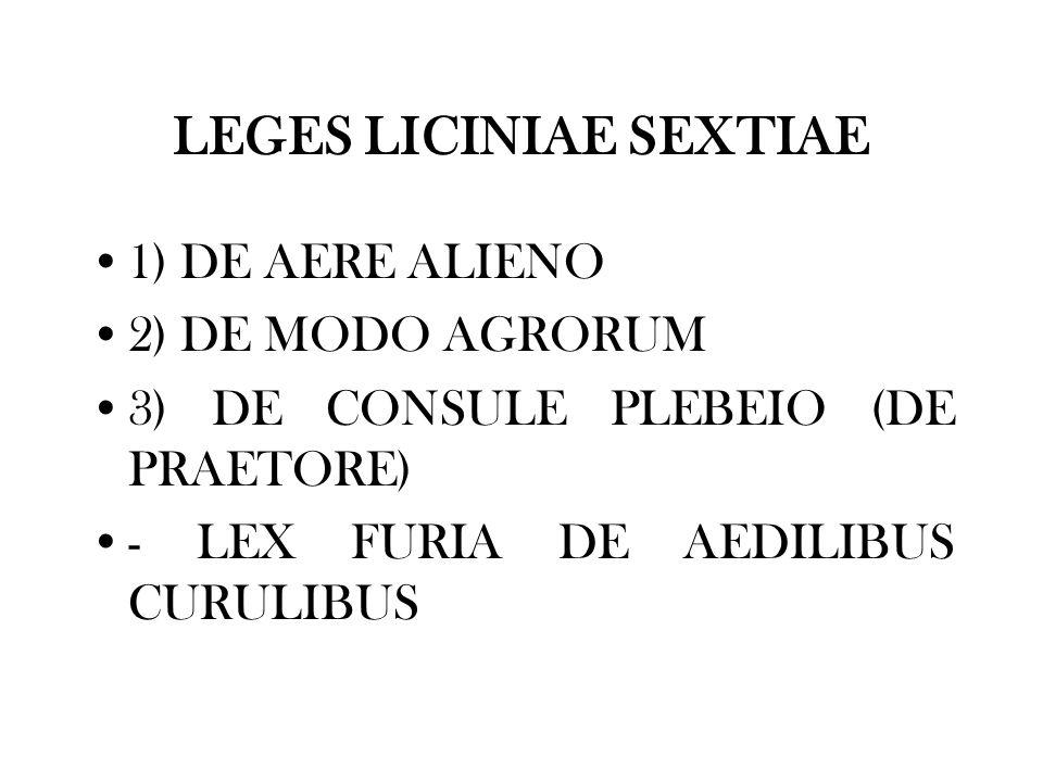 LEGES LICINIAE SEXTIAE