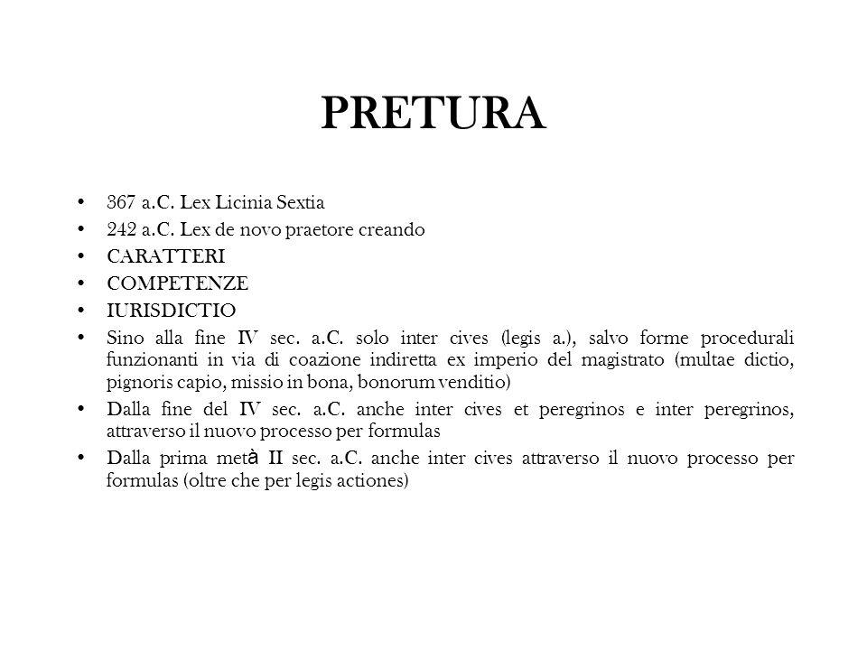 PRETURA 367 a.C. Lex Licinia Sextia