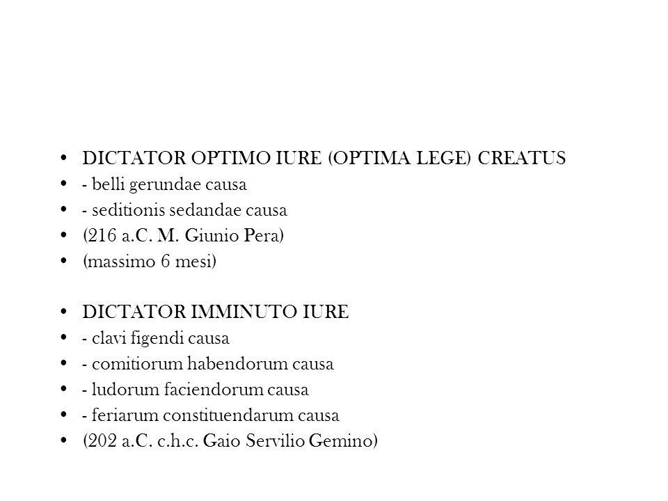 DICTATOR OPTIMO IURE (OPTIMA LEGE) CREATUS