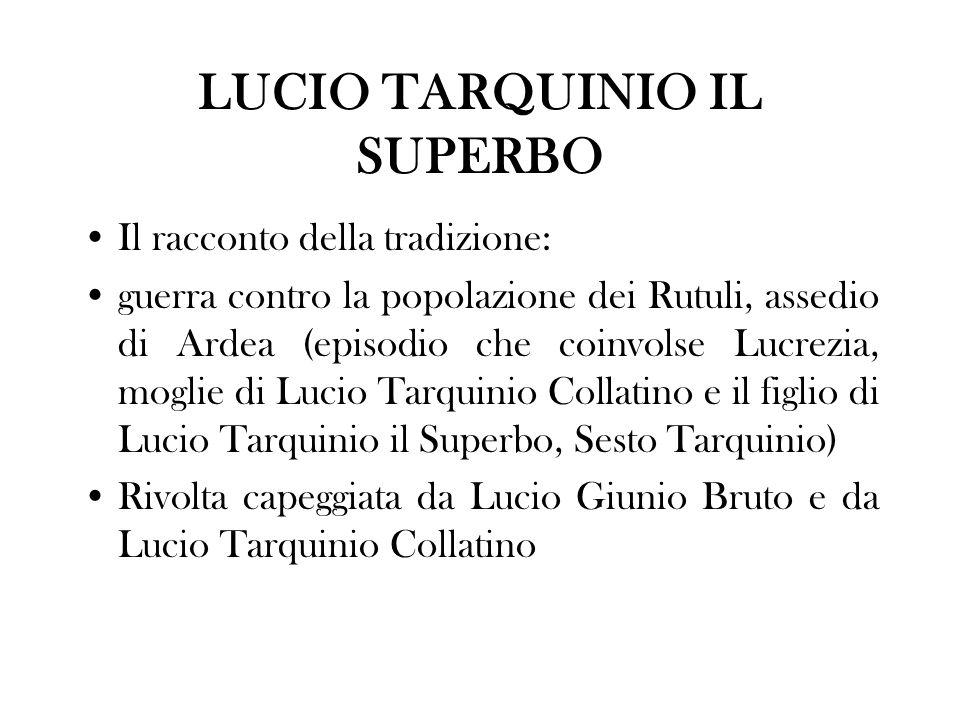 LUCIO TARQUINIO IL SUPERBO