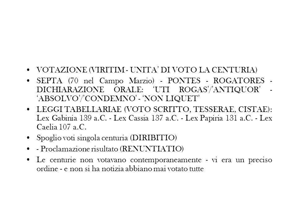 VOTAZIONE (VIRITIM - UNITA' DI VOTO LA CENTURIA)
